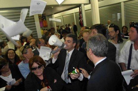 Il consigliere circoscrizionale Federico Mollicone in un momento del Blitz
